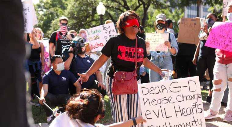 How serious is violence by police against protesters in the greater San Antonio area?